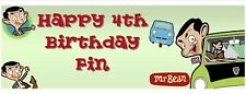 MR BEAN 3ft personalised banner kids birthday party X2