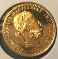1 Ducat 1915 Franz Joseph I Austria BU  .986 (Restrike 24 kt gold)