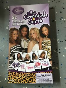 Rare Cheetah Girls Valentines Day Cards (Box of 32) Disney Channel With Tattoos