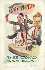 Man On Merry-Go-Round Horse~Carousel~I'll Be Around Soon~Emboss~HH Tammen Pub
