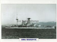 1913 HMS WARSPITE Battleship Ship / GB Warship Photograph Maxi History Card