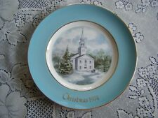 Avon Christmas Plate 1974 Second Edition Country Church Wedgwood Excellent