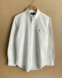 Polo Ralph Lauren Dress Shirt Long Sleeve Men's M White Cotton Classic Regular