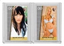 Lucy Lawless rare MH Book-Match #'d 2/3 Tobacco card no. 537