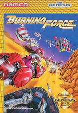 Burning Force SEGA Genesis Framed Print (Mega Drive Man Cave Picture Game Art)