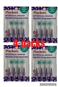 Plackers Hi Performance Interdental  Brush - 4packs