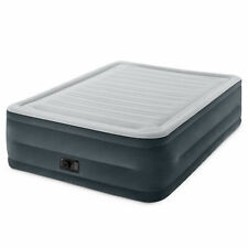 INTEX Large Comfort Plush High Waist Dura-Beam Air Mattress with Built-in Pump