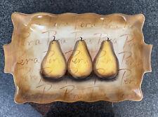 Tabletops Unlimited Pear 20x12 Rectangular Serving Platter Fruition