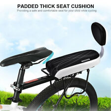 Kids Bicycle Rear Seat Cushion Armrest Feet Pedals Footrest Bike Back Set US