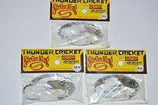 3 lures strike king thunder cricket white silver bladed jig 3/4oz