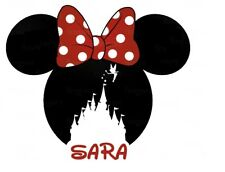 DISNEY******MINNIE MOUSE CASTLE********** *PERSONALIZED T-SHIRT IRON ON TRANSFER