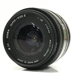 Sigma Super Wide II f/2.8 24mm MC for Minolta A from Japan - Very Good [TK]