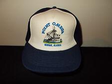 VTG-1980s Point Omega Kodiak Alaska Deadliest Catch Crab Fishing Boat hat sku32