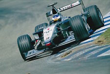 Mika Hakkinen Hand Signed West McLaren Mercedes 12x8 Photo F1 2.