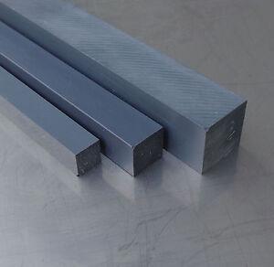 PVC Vierkant 10x10mm grau Länge wählbar PVC-U 4-kant Stab Kunststoff Stange