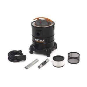 Vacuum Canister Cleaner 3.0-Peak HP Ash Cartridge Filter Bare Floor Black 5 Gal.