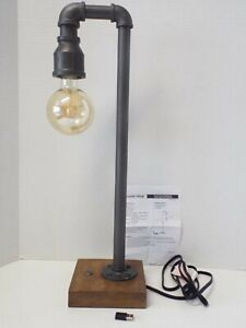 Seaside Village Touch Control Industrial Table Lamp with USB Port