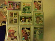 Hank aaron, Pete Rose & Other Old Card Lot Of 9