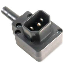 IEC Male C14 Vertical Right Angled 10A Connector Plug - Kettle Socket 90 Degree