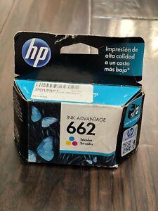 HP 662 TRI-COLOR Original Ink Cartridge Deskjet CZ104AL OEM Sealed box 07/17