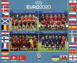 Chad Football Stamps 2021 MNH UEFA Euro 2020 Czech Republic Soccer Sports 4v M/S