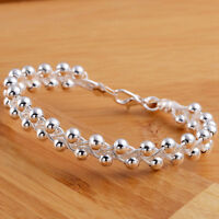 cute charms 925 Silver Fashion Bead party women noble Bracelet jewelry hot sale