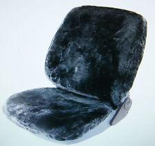 2 Felle Sitzfelle Sitzbezüge Autofelle grau anthrazit - auch für Seitenairbag