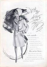 1965 Lord & Taylor Fashion Ben Zuckerman's Designer Wool Suit PRINT AD