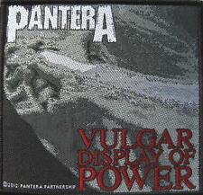 "PANTERA AUFNÄHER / PATCH #4 ""VULGAR DISPLAY OF POWER"""