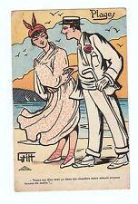 Carte Postale illustration de GRITT : Drague à la plage...