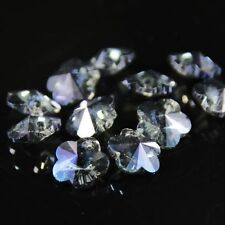 12pcs Swaro-element 8mm plum blossom shape Crystal beads C Hyaline blue