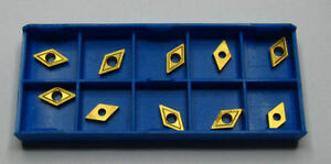 RDGTOOLS BOX OF 10 DCMT 07 CARBIDE TIPS / INSERTS / INDEXABLE TURNING TOOLS CNC