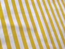 YELLOW + WHITE CABANA STRIPES SUN PICNIC BEACH OILCLOTH VINYL TABLECLOTH 48x108