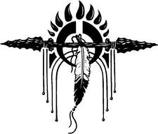 Native American Large Feather Decor Vinyl Decal Sticker Car Truck Sign RV Window