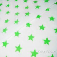 "Stars Fabric - 27mm Print - Polycotton - 112cm 44"" WIDE Blue Red Pink"