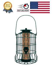 GrayBunny GB-6860 Caged Tube Feeder Squirrel Proof Wild Bird Seed Feeders Yard