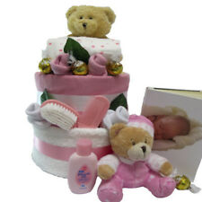 Nappy Cake New Born Girl Beautifully for Baby Gift