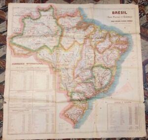 BRÉSIL. CARTE ÉCONOMIQUE ET POLITIQUE. AU 1/5 000 000. 1906-1907.