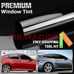 "30""x15FT Vlt 5% Uncut Roll Window Tint Film Charcoal Black Car Glass Office"
