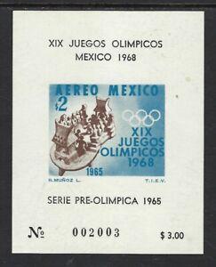 Mexico 68 Olympics MNH Imperf Souvenir Sheet.......01L-32.......1228