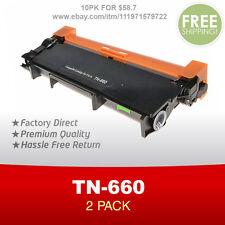 2PK Brother Compatible TN630 TN660 High Yield Black Toner Cartridge NEW
