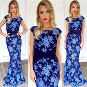 Gorgeous Size 8 Blue Lace  Stunning N Classy Dress For Formal Party