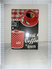 Plaque Publicitaire Vintage Métal Tasse Pot Biscuits 20 x 30 cm Neuve Atmosphera