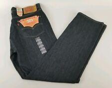 Levis 501Jeans Button Fly Mens Denim Stonewashed W36 x 34 Dark Blue / Black