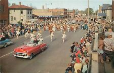 Holland Michigan~1950s Red Convertible w/Queen & Court~Majorettes~Auto Parts