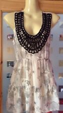 Ladies Size 10 Sheer Top With Lace At Front Vgc From Dorothy Perkins