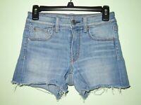 American Eagle Women's High Rise Shortie Medium Wash Denim Shorts Size 2