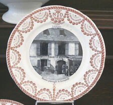 1 antiker Teller, Sarreguemines, Frankreich, Keramik, Lourdes, Bernadette