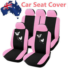 Butterfly Seat Cover Pack-Pink,Universal 1 Set Car Seat Cover Front/Rear Seat 1K