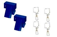 2 Schaukelverbinder 90/90mm,100° + 4 Schaukelhaken  90x90mm -SET Kantholz NEU